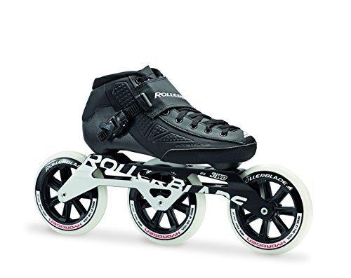 Rollerblade Skates Marathon - Rollerblade Powerblade Elite 125 Unisex Adult Fitness Inline Skate, Black, Premium Inline Skates