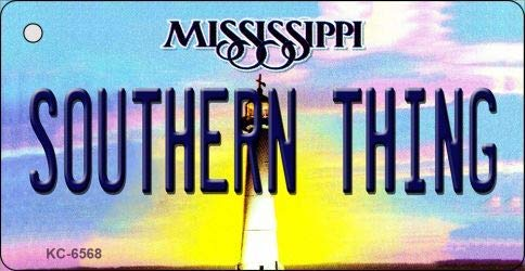 Bargain World Southern Thing Mississippi State License Plate Key Chain (Sticky Notes)
