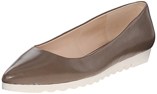 West Nine M B Grey Leather EU Ballet 5 6 38 5 B Women'S Flat M UK Underway drqZgwr
