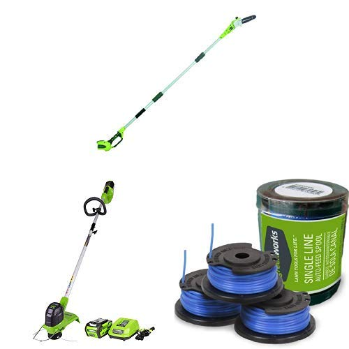 - Greenworks 40V Cordless Pole Saw/String Trimmer + Extra Spool Pack Combo Kit, 2.0ah battery included