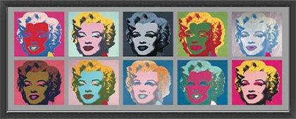ポスター アンディ ウォーホル Ten Marilyns 1967 額装品 ウッドベーシックフレーム(ブラック) B071K61VF4 ブラック ブラック