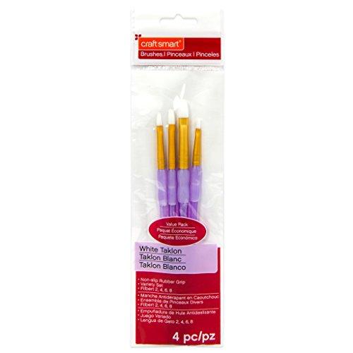 White Taklon Filbert Brushes Value Pack By Craft Smart 4 ()