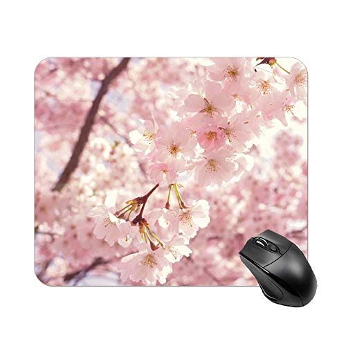 Yishour Mouse Pad Selective Focus Photography of Pink Cherry Blossom Flowers Mousepad Non-Slip Rubber Gaming Mouse Pad Rectangle Mouse Pads for Computers Laptop]()