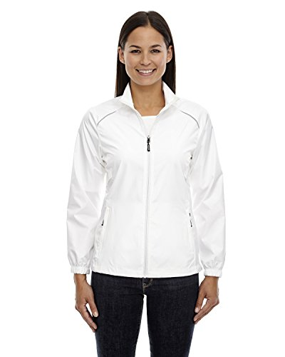 Womens Unlined Jacket - Ash City Core 365 Women's Motivate Unlined Lightweight Jacket, White 701, Small