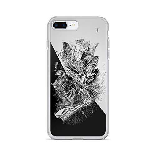 (iPhone 7 Plus/8 Plus Case Anti-Scratch Gamer Video Game Transparent Cases Cover Burnout Gaming Computer Crystal Clear)