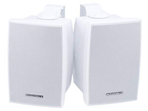 Monoprice 106971 5-1/4-Inch 40W Nominal and 80W Max 2-Way Indoor/Outdoor Waterproof Pair Speakers