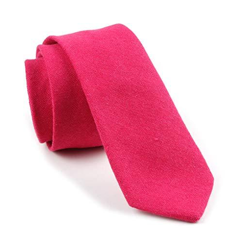 Fuchsia Skinny Tie Fantastic Bright Magenta Necktie Italian Birthday Gift for Women Mens ()