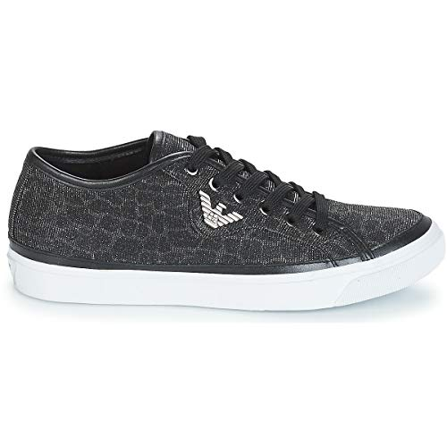 Sneaker Metallico Donna Glitter Nero Armani Court Emporio xgIBw7qx
