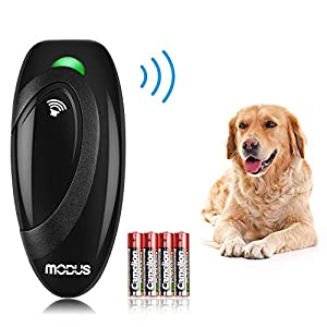 Modus Ultrasonic Bark Control Device, Anti Barking DeviceDog Training Aid 2 in 1 Control Range of 16.4 Ft W/Anti-Static Wrist Strap LED Indicate 100% Safe Walk a Dog Outdoor
