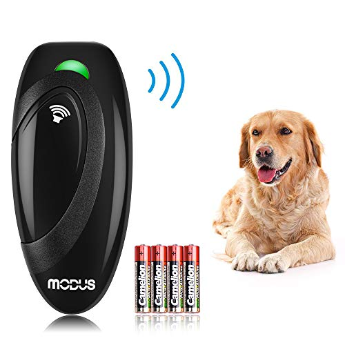 - Modus Ultrasonic Bark Control Device, Anti Barking DeviceDog Training Aid 2 in 1 Control Range of 16.4 Ft W/Anti-Static Wrist Strap LED Indicate 100% Safe Walk a Dog Outdoor