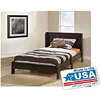 Sauder Parklane Twin Platform bed for Relaxed Sleeping with Headboard Cinnamon Cherry