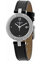 Tissot Trend Pinky Black Dial Black Leather Ladies Watch T0842101605700