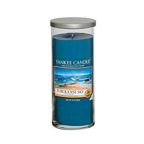 Yankee Candles Large Pillar Candle - Turquoise Sky (Pack of 6) - ヤンキーキャンドル大きな柱キャンドル - ターコイズの空 (x6) [並行輸入品]   B01N2JNYA7