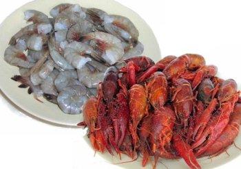 5 lbs. Crawfish and 2 lbs. Jumbo Shrimp