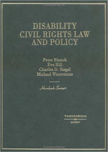 Disability, civil rights law, and policy / Peter Blanck [and others]