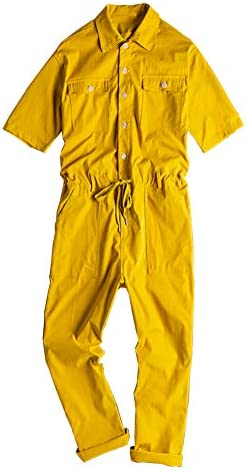 GINZOUS Men`s Short Sleeve Ankle Length Jumpsuits