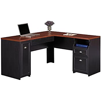 Superieur Bush Furniture Fairview L Shaped Desk In Antique Black