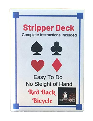 (London Magic Works Red Back Stripper Deck Includes 100 Plus Tricks, Classic Card Trick That is Sure to Amaze)