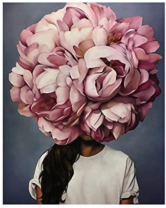 Abstract Flower Woman Canvas Wall Art Floral Girl Modern Print Poster Home Decor