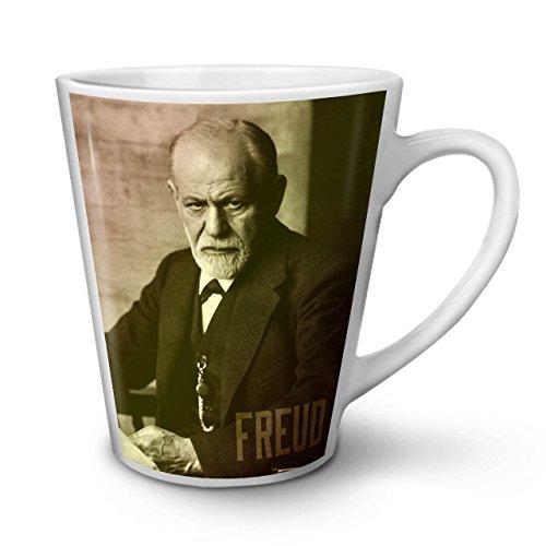 Senior Citizen Day Costume Ideas (Sigmund Freud Famous Person White Tea Coffee Ceramic Latte Mug 12 oz | Wellcoda)
