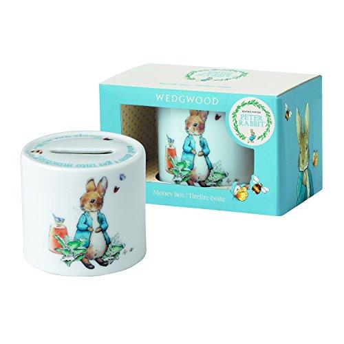 Wedgwood Boy's Peter Rabbit Money Box, White and Blue (Box Wedgwood)
