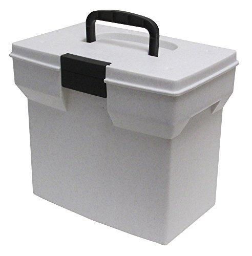 United Solutions Plastic Personal File Tote, Granite