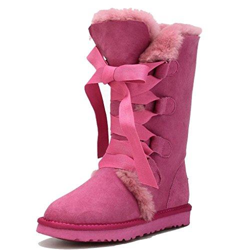 Neve Neve Stivali Le Signore Stivali Tenere Tenere Tenere Alti da Caldo Stivali Inverno Donna E Antiscivolo Femmina da Sq1xIf77