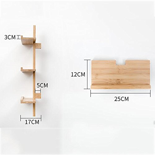 Shelves MEIDUO Storage Rack Wood Wall Mounted Organizer for Bedroom, Living Room, Bathroom, Kitchen, Office and More 3-Tier,4-Tier,5-Tier (Size : 3 layers) by Shelves (Image #5)