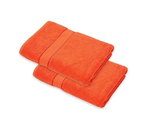 - Friends & Home Bath Towel Set of 2 - Orange Terry (100% Cotton, 27