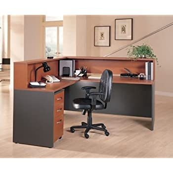 "Bush L Shaped Reception Desk 6"" 5"" X 5"" 11"" "