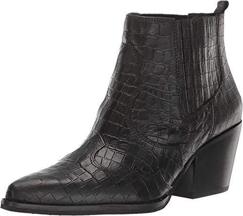 Sam Edelman Women's Winona Black Abria Soft Croco Leather 6.5 M - Croco Leather Black