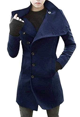 Navy Blau Elegant Winter Mens Jacket Men's Windbreaker Jacket Coat Long Winter Overcoat Men Men Huixin Section Long Apparel Parka Winter Hw8FUFqO