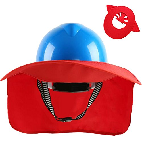TINTON LIFE Premium Quality Safety Helmet Hard Hat Sunshade with Detachable Neck Shade(Red)