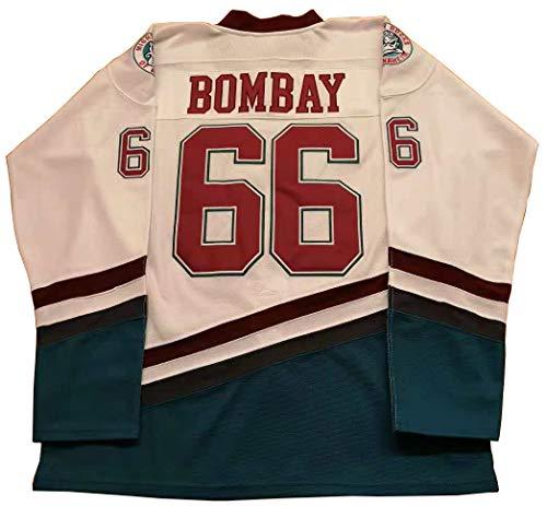 (Kooy Gordon Bombay #66 White Mighty Ducks The Movie Jersey Hockey Men Stitched (X-Large))