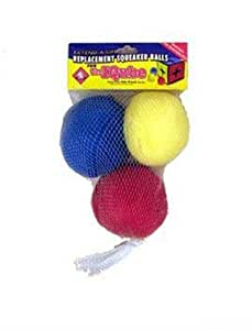 Outward Hound Kyjen  PP01046 Squeakin' Balls IQube Replacement Pack 3-Pack Dog Toys, Small, Multi-Colored