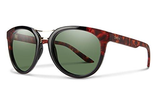 Smith Optics Bridgetown Chromapop Polarized Sunglasses, Black Havana Block, Gray Green