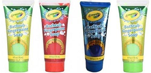 Children's Crayola Bathtub Fingerpaint Soap Assorted Colors,