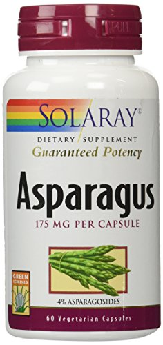 Solaray Gp Asparagus Supplement, 175 mg, 60 Count