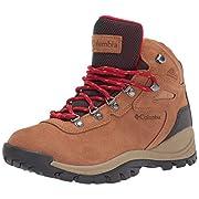 Columbia Women's Newton Ridge Plus Waterproof Amped Hiking Boot, Elk, Mountain Red