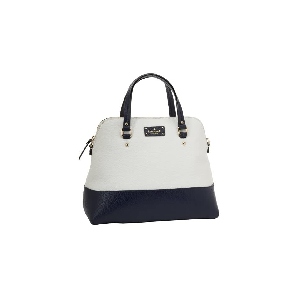 Kate Spade New York Grove Court Large Maise  Satchel,Cream/Navy,One Size