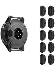 FINTIE Dammplugg kompatibel med Garmin Vivoactive 3/3 Music/Fenix 5/5 Plus/5S/5X/Forerunner 935 Smartwatch, [10-pack] silikon laddare portskydd anti-damm pluggar lock, svart