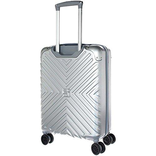 Eurotravel 4 Rollen Koffer 56cm silver