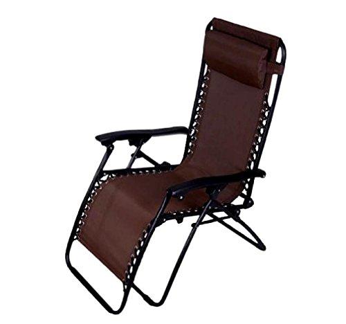 Folding Chair - Kingwo Lounge Chair Zero Gravity Lounge Chair Beach Patio (Textilene Recliner Chair)