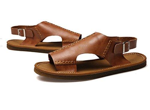 Zapatos De Playa Hombres De La Antideslizante Sandalias Suave Los De Zapatilla Casual De Brown Verano Suela pwqaTp1B