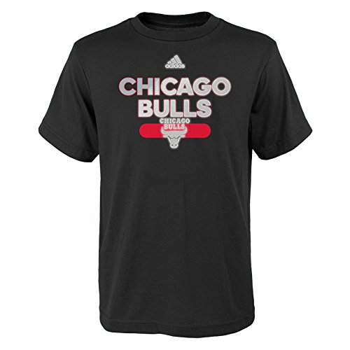 fan products of NBA Reflective Authentic Short Sleeve Tee-Black-M(10-12), Chicago Bulls