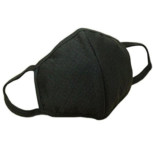 Marygel 5 Pcs Reusable Washable Activated Carbon Cotton Warm PM 2.5 Dust Masks Flu Masks(Black 5 Pcs) by Marygel
