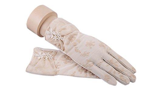 formanism エレガント 大人上品 ガーリー シックカラー 紫外線防止 UV サマー手袋 レディース (G)