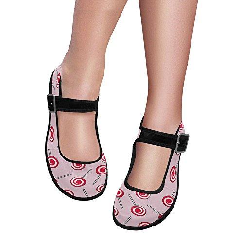 InterestPrint Womens Comfort Mary Jane Flats Casual Walking Shoes Multi 3 QixLpwriDJ