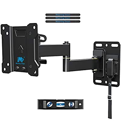 TV Mount Lockable RV TV Mount for 10-26 Inch Flat Screen TV, RV Mount for Camper Marine Boat Trailer, Easy One Step Lock Full Motion RV TV Wall Mount up to VESA 100x100mm, 22 LBS Mounting Dream MD2209