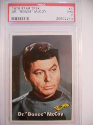 Star Trek Dr. McCoy rare PSA 6 high grade vintage Star Trek card 1976